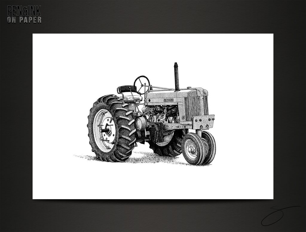 John Deere Celebration 60 Pen&Ink by artist Scott
